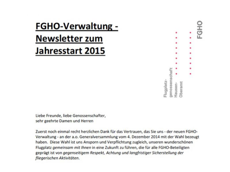 Newsletter Jan (I) 2015