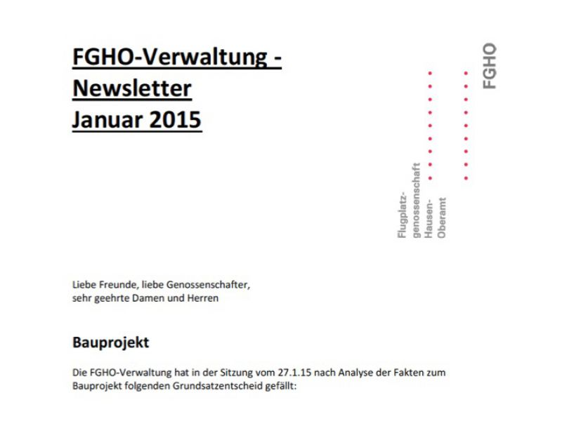 Newsletter Jan (II) 2015